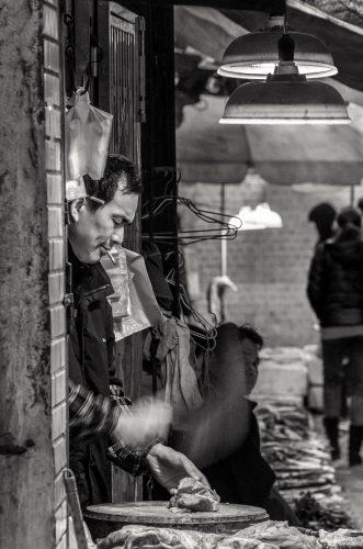Fleischerei, Guangzhou, China