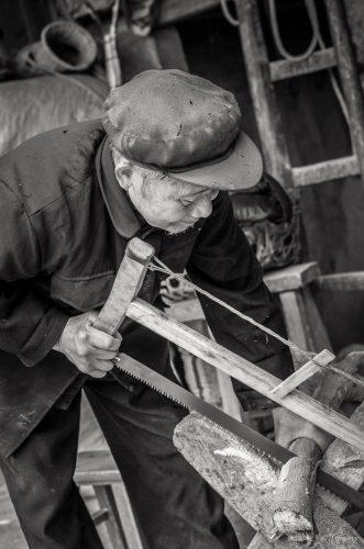 Holzfäller, Langde, China