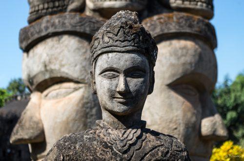 Triple Buddha, Vientiane, Laos