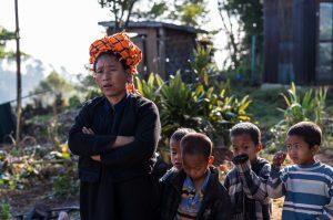 Familie, Myanmar, Indigo, Kalaw, Lake Inle