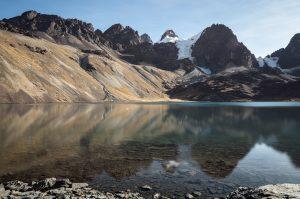 Morgensonne, Laguna Chiar Khota, Bolivien