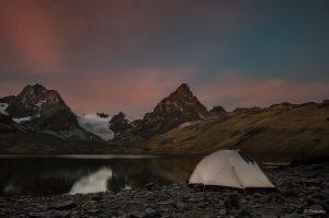 Sonnenuntergang, Laguan Chiar Khota, Bolivien