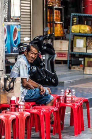 Zigarette, Straße, Restaurant, Bangkok, Thailand